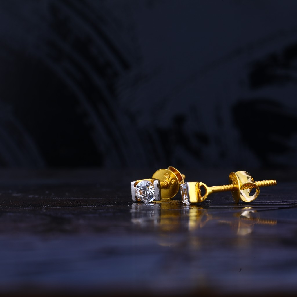 916 Gold Designer Fancy Earring LSE04