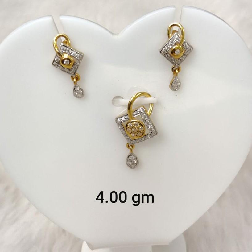 daily wear Cz pendant set for women