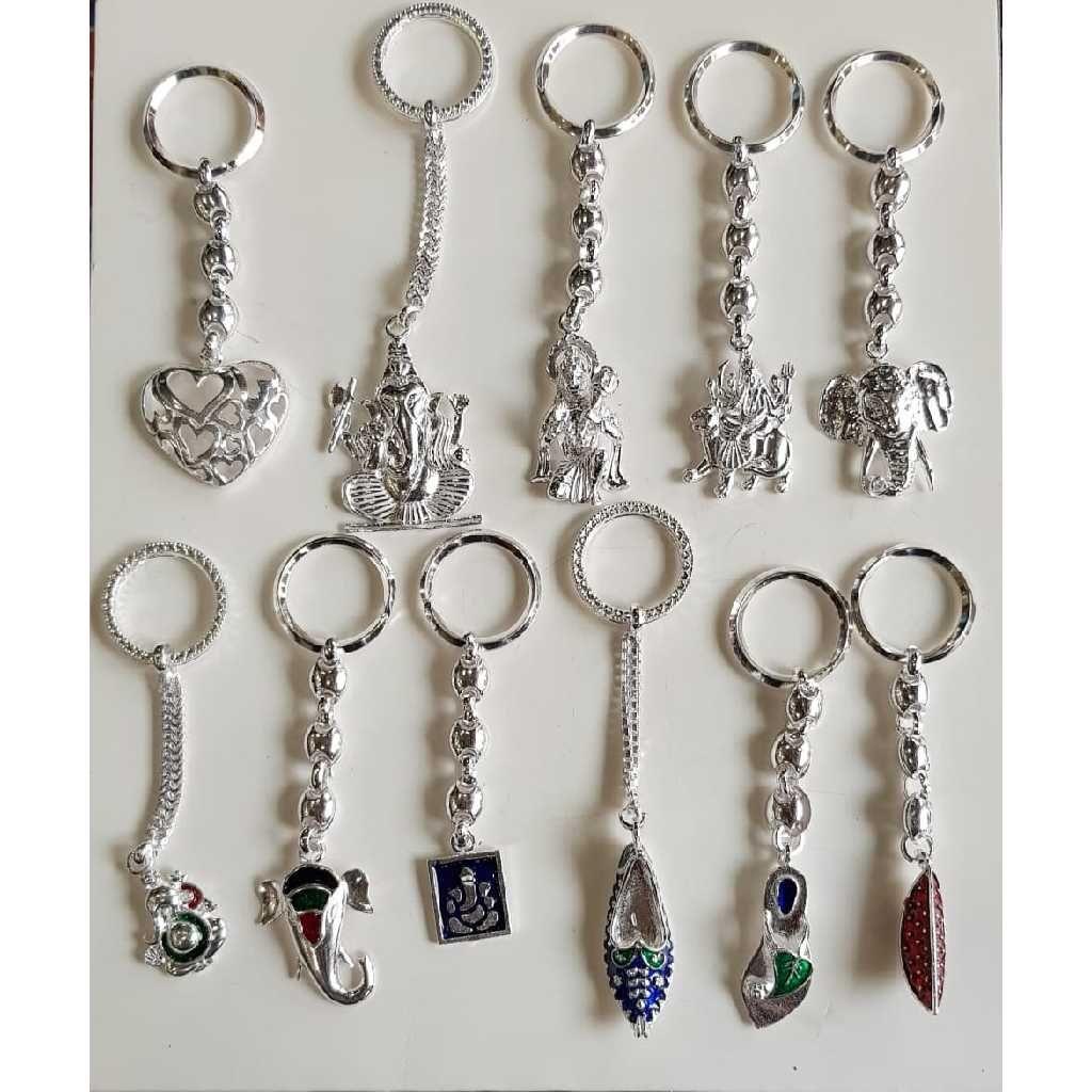 Silver fancy keychains