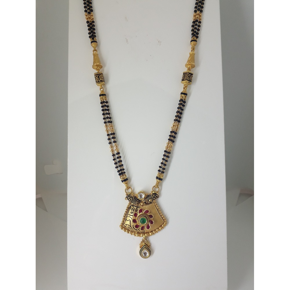 916 Gold Attractive Jadtar Mangalsutra IO-A020