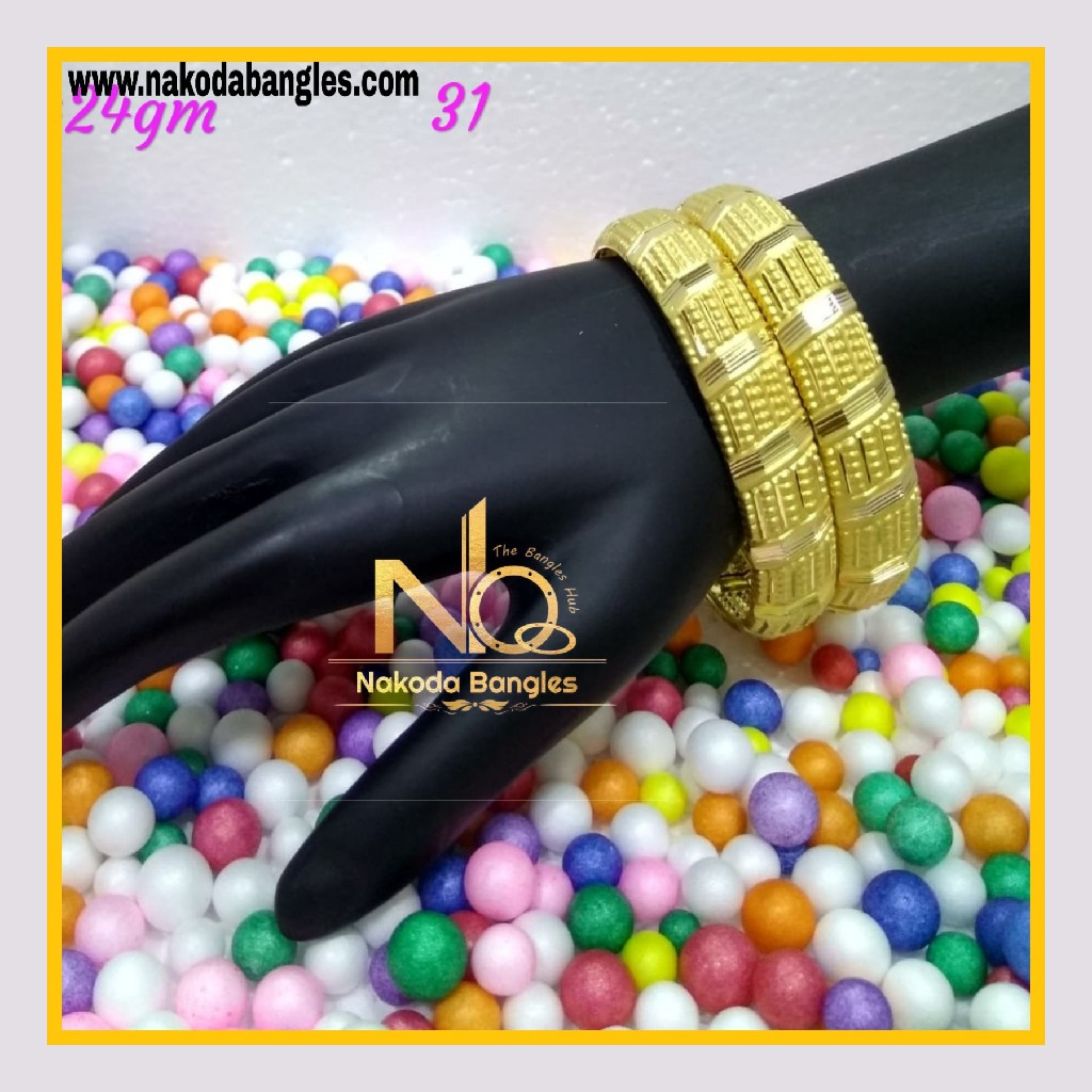 916 Gold Patra Bangles NB - 594