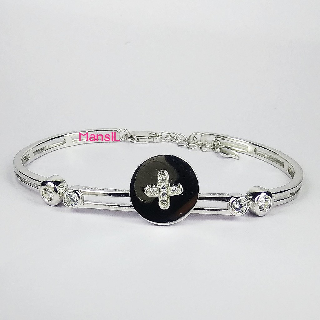 92.5 sterling silver Baby kada bracelet ML-115