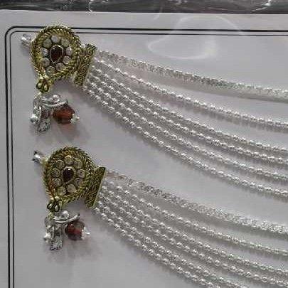 Silver Jaipuri Gold Polish Jul Payal
