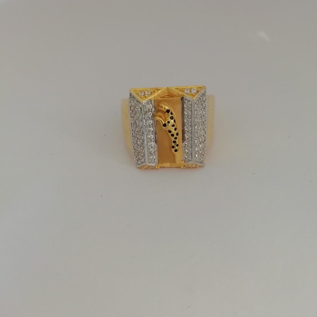 916 gold jaguar design Gents ring