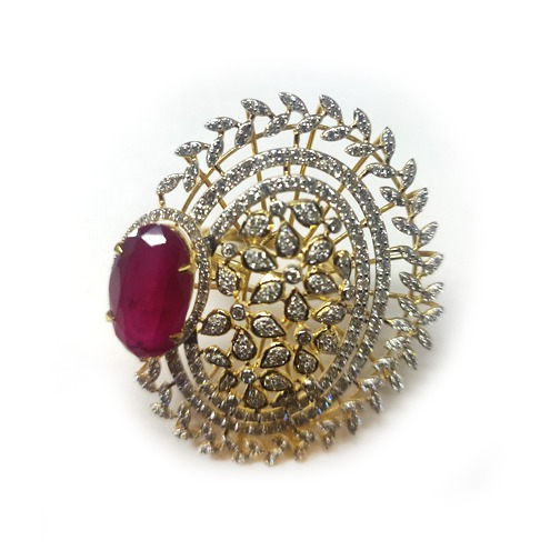 916 gold designer ruby stone ring md-r001