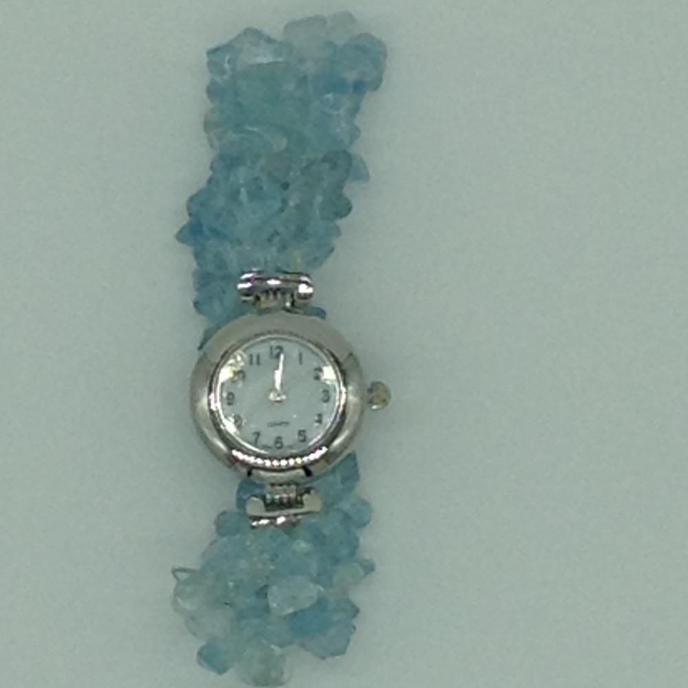 Aquamarine Chips2 LayersDesigner WatchJBG0254