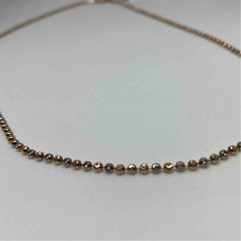 18 karat, rose gold ball chain JKC-098