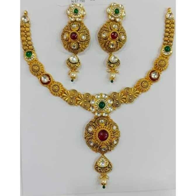 22ct Antiqe Gold Necklace Set