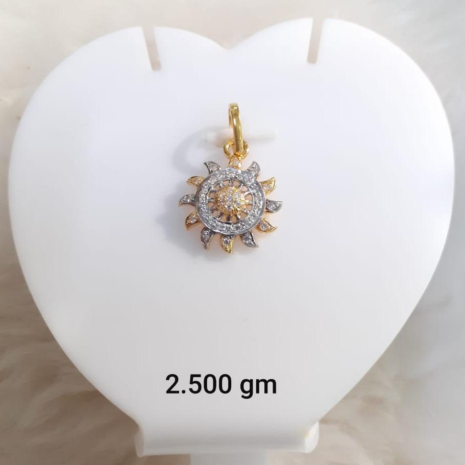22KT Gold CZ Surya Pendant KG-P08