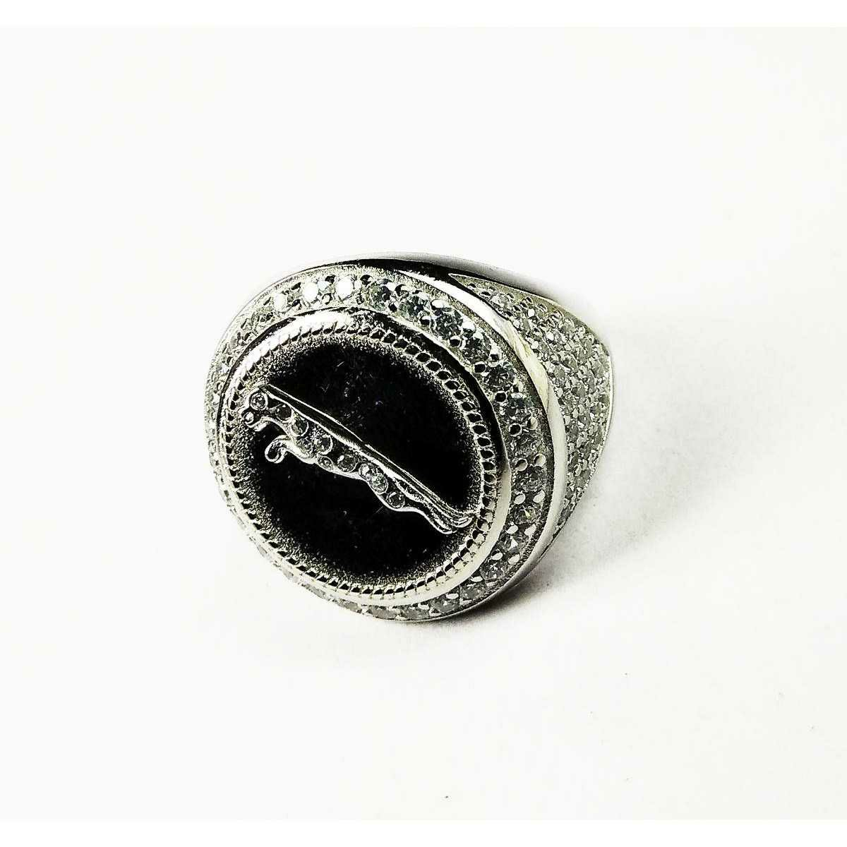 Descent 925 Silver Jaguar Gents Ring