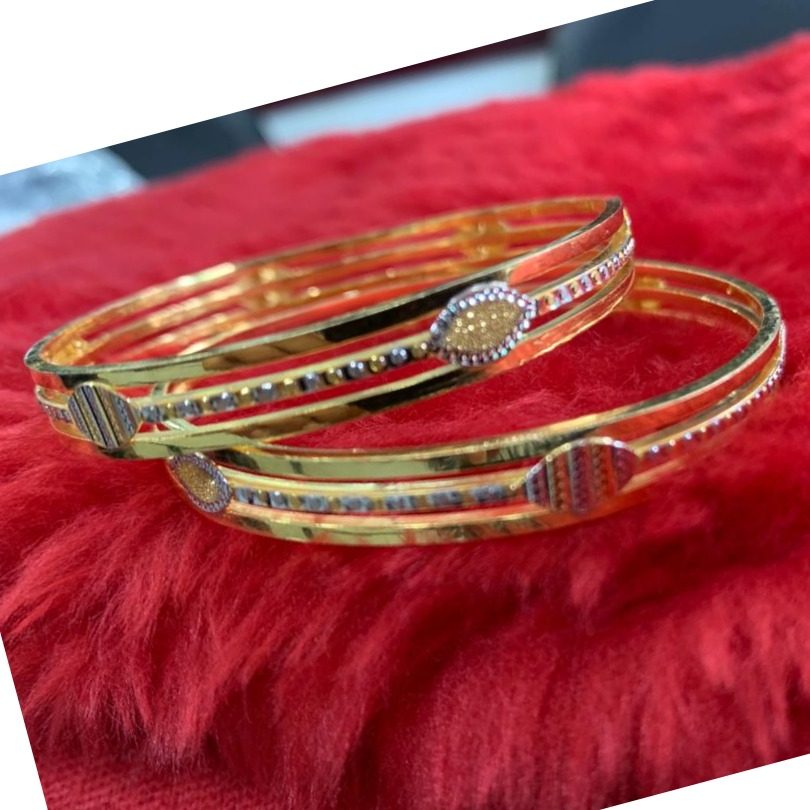 22Kt/ 916 Gold Fancy daily Wear casual Cooper Kadli For Ladies