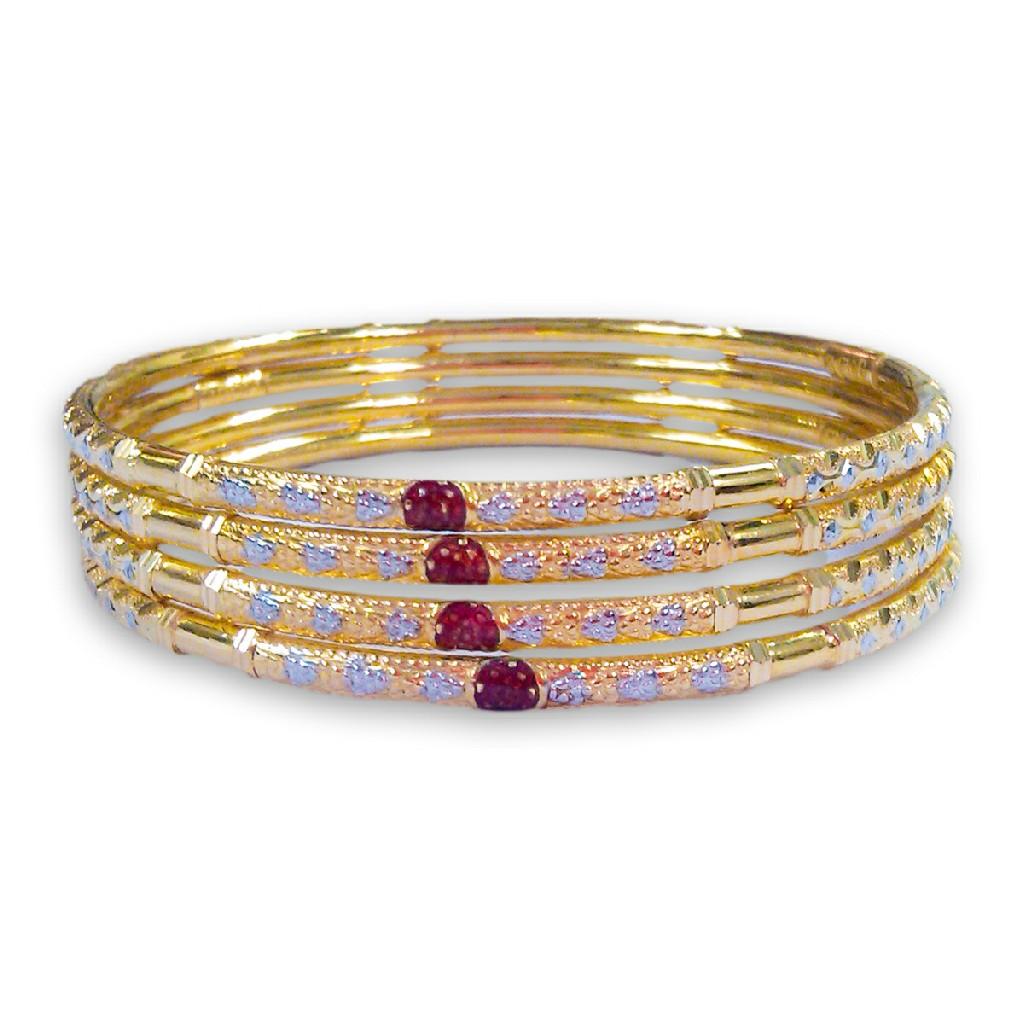 22KT/916 AESTHETIC DESIGNED GOLD COPPER KADLI BANGLE