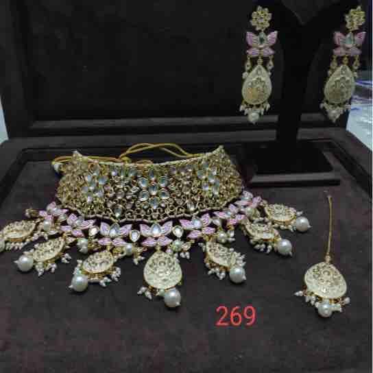 925 silver Kundan Set