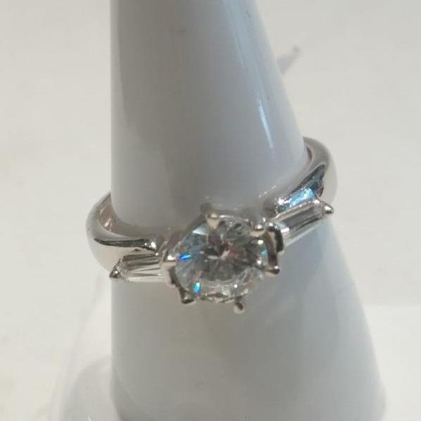 925 Silver Hallmark One Stone Ring