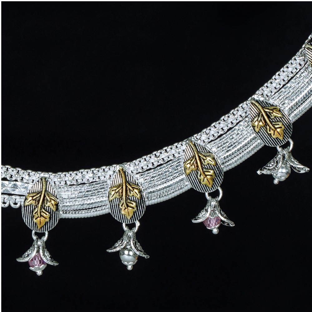 Antique Designer Silver Payal