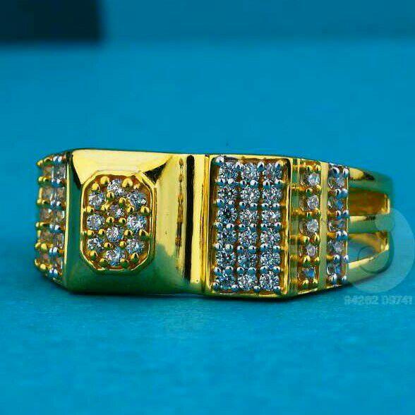 916 Gold Fancy Gents Were Ring