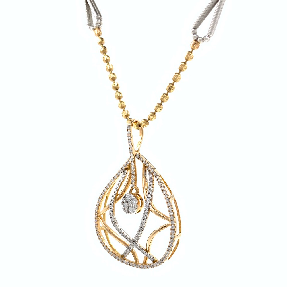 Invidebit Diamond Pendant in Rose gold 8SHP35