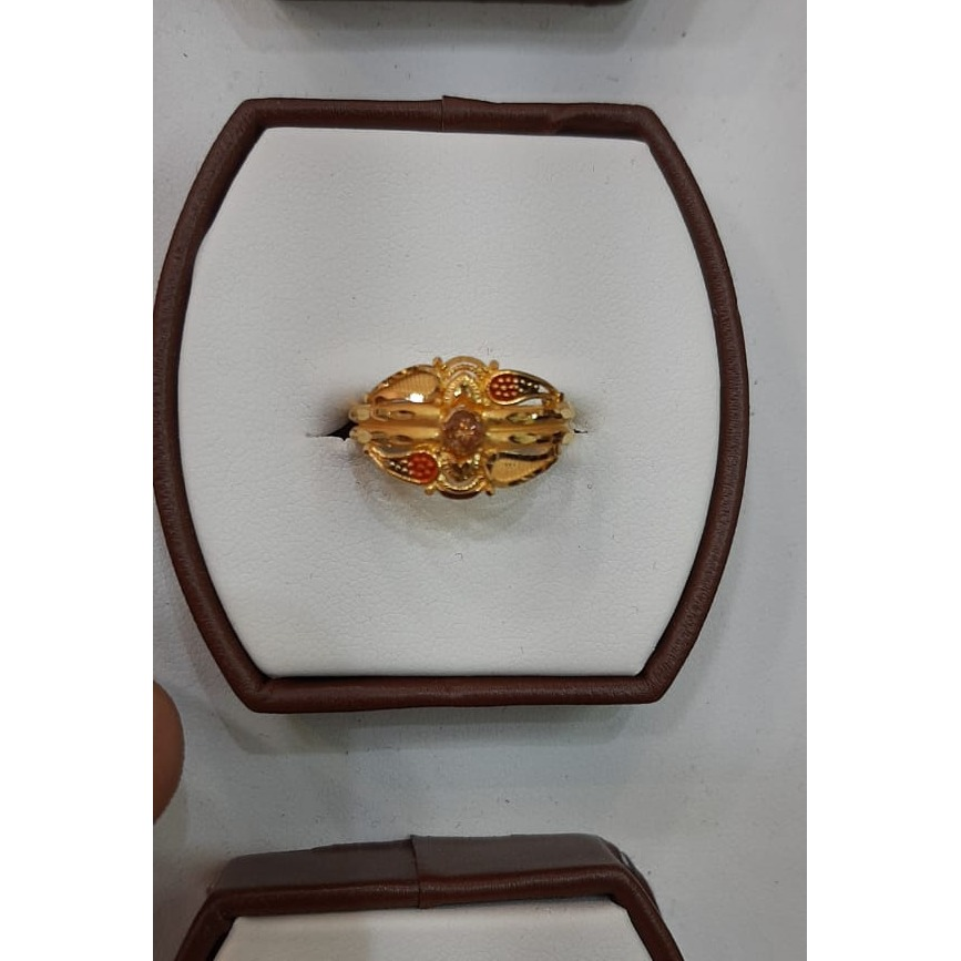 916 Gold Stylish Ring For Women MJ-R007