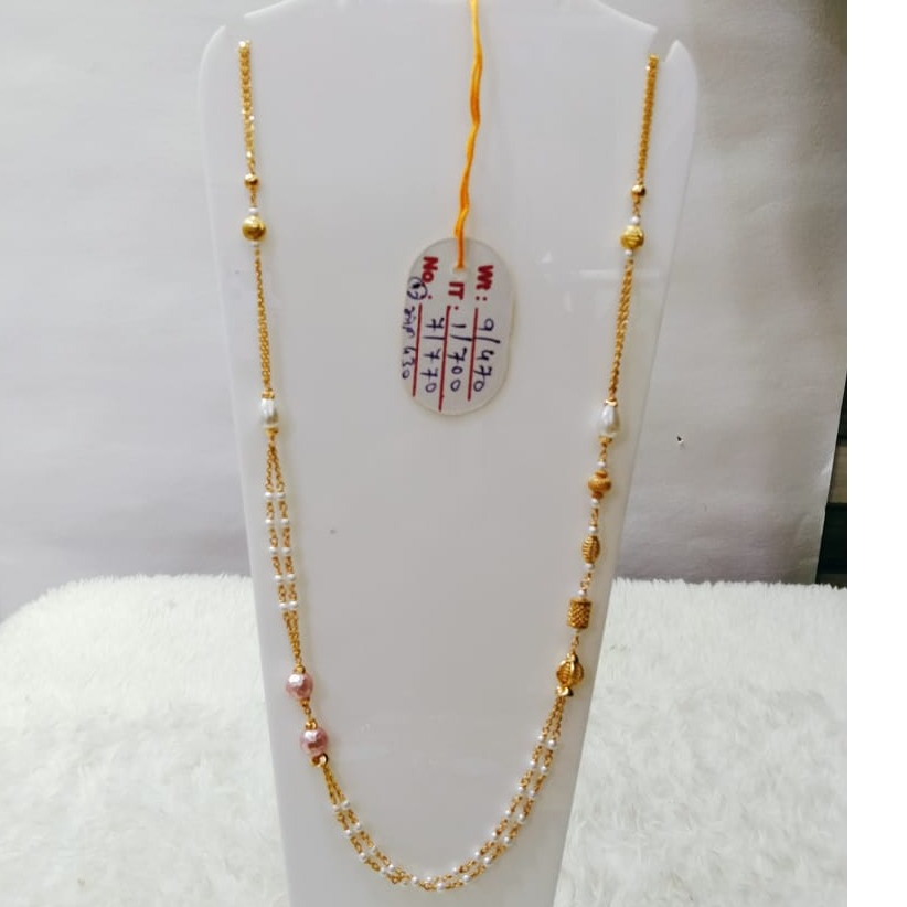 22 carat gold classical ladies mala RH-LM823