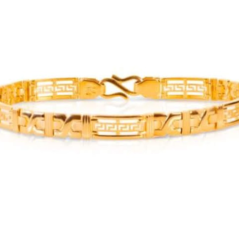 22k(916)Gold Gents Plain Bracelet