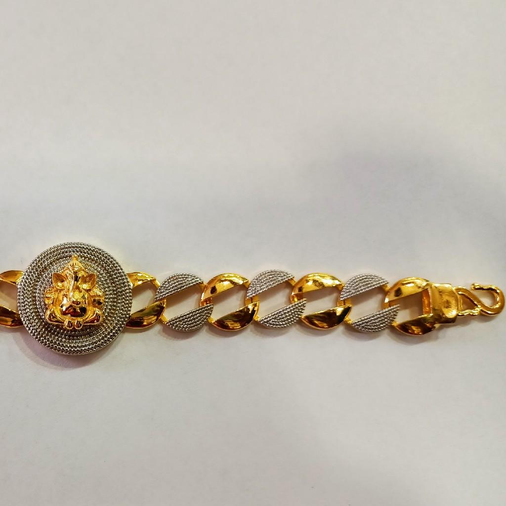 916 Gold Ganesh Design Bracelet