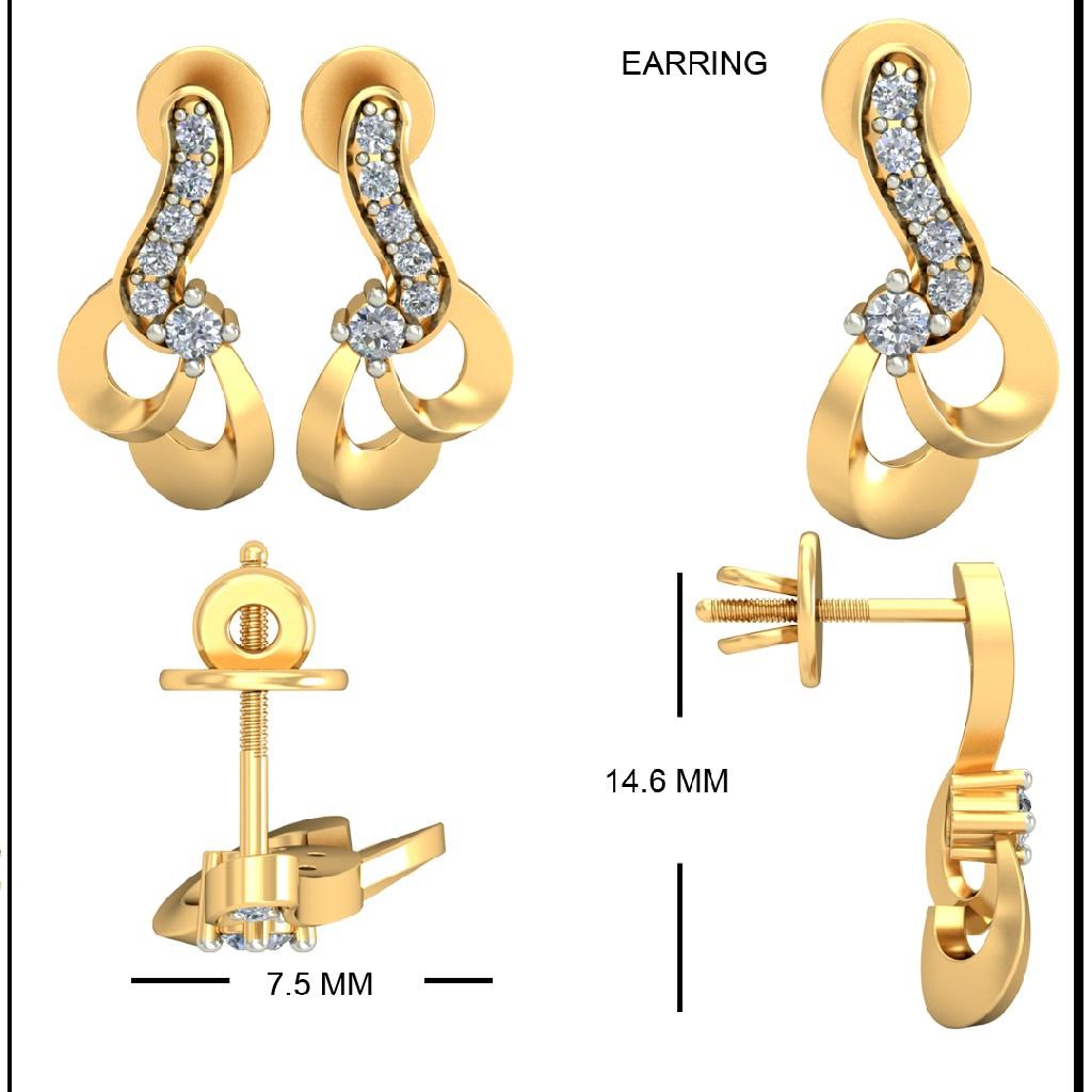 22KT Yellow Gold Hinaya Earrings For Women