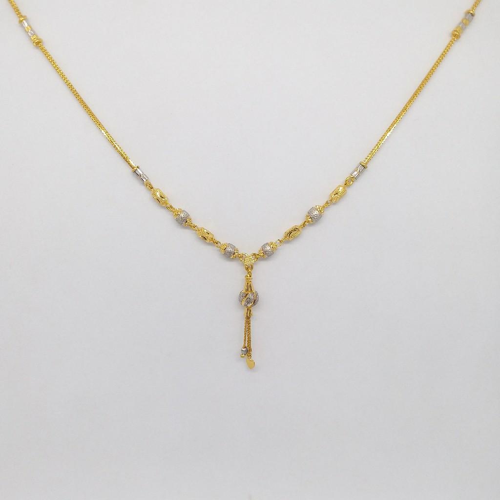 22 KT 916 Hallmark Gold Plain Dokiya for ladies