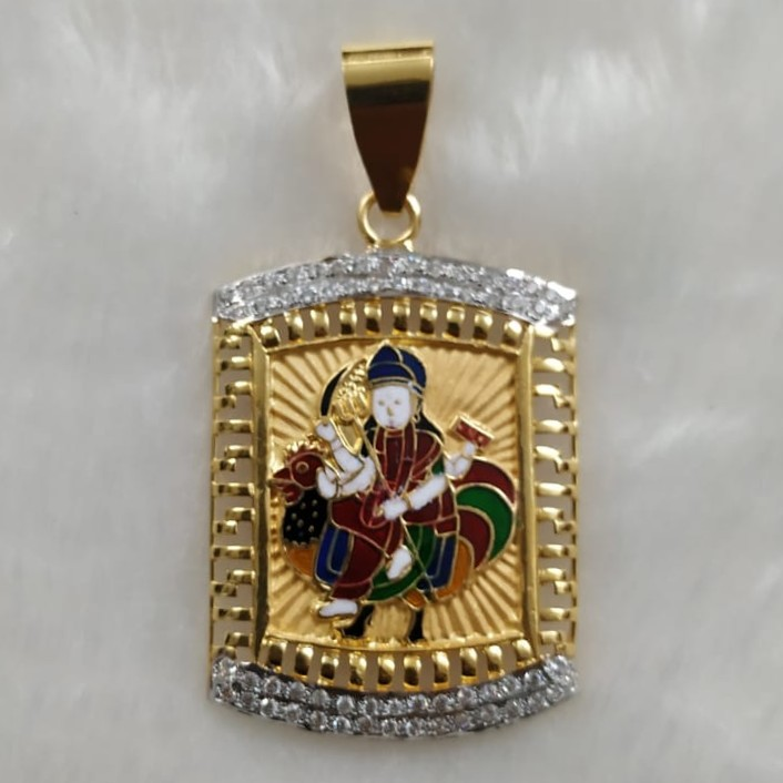 916 Gold Fancy Bahuchar Maa Pendant
