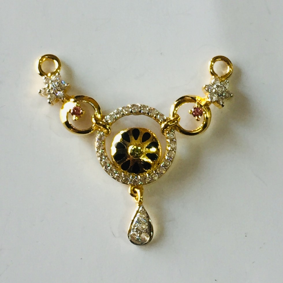 22k/916 light weight mangalsutra pendant