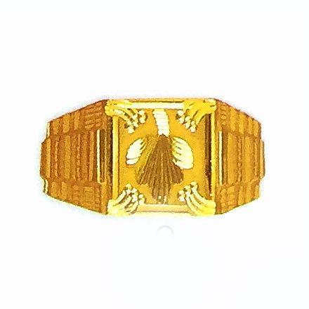 22k Gold Fancy Gents Ring Indian Design