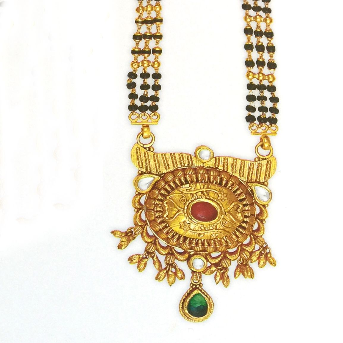 916 Gold Mangalsutra for Bridal with Black Mani