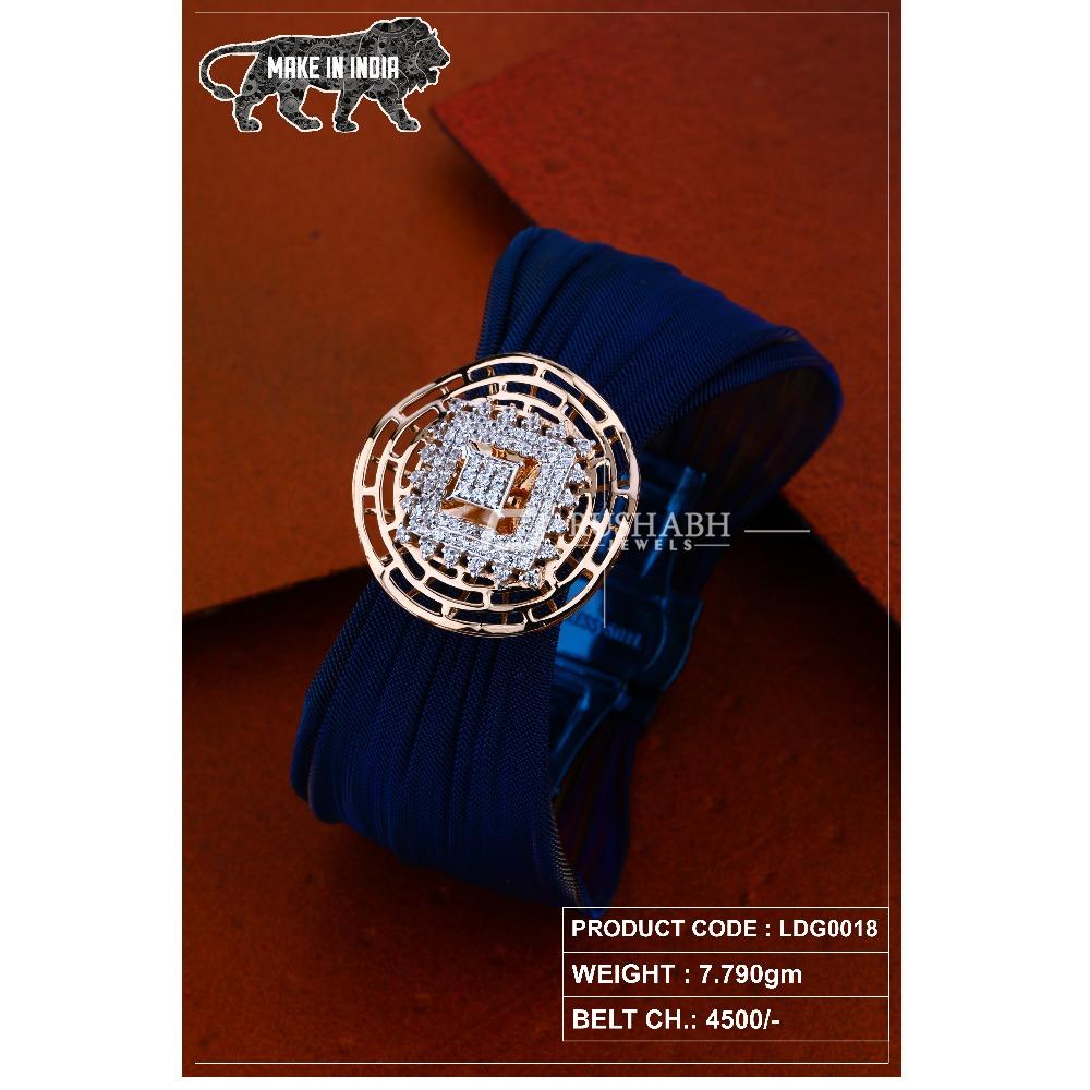 18 Carat Ladies rose gold braceletround shape and square  ldg0018