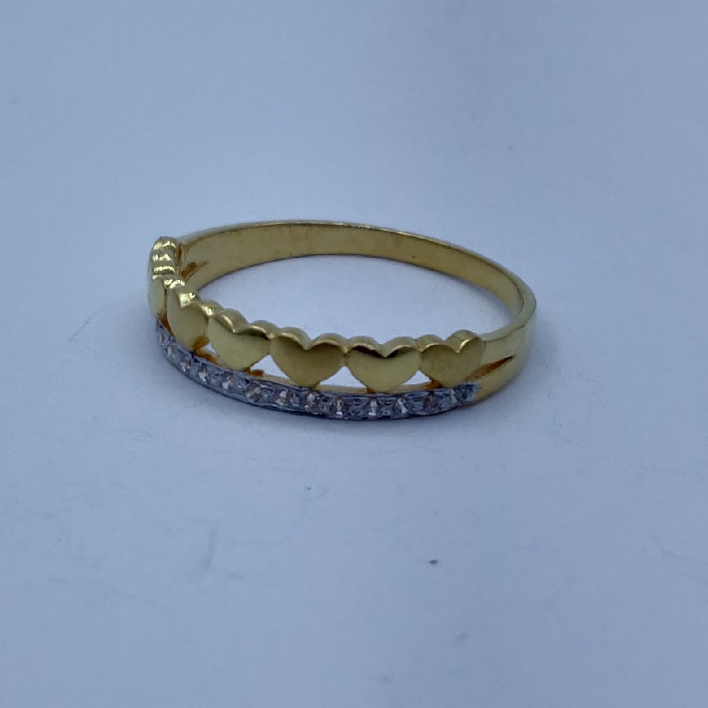 916 cz gold plated fancy ladies ring
