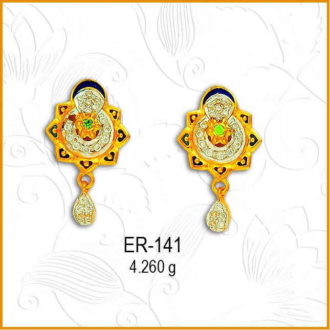 916 Gold CZ Attractive Earring ER-141