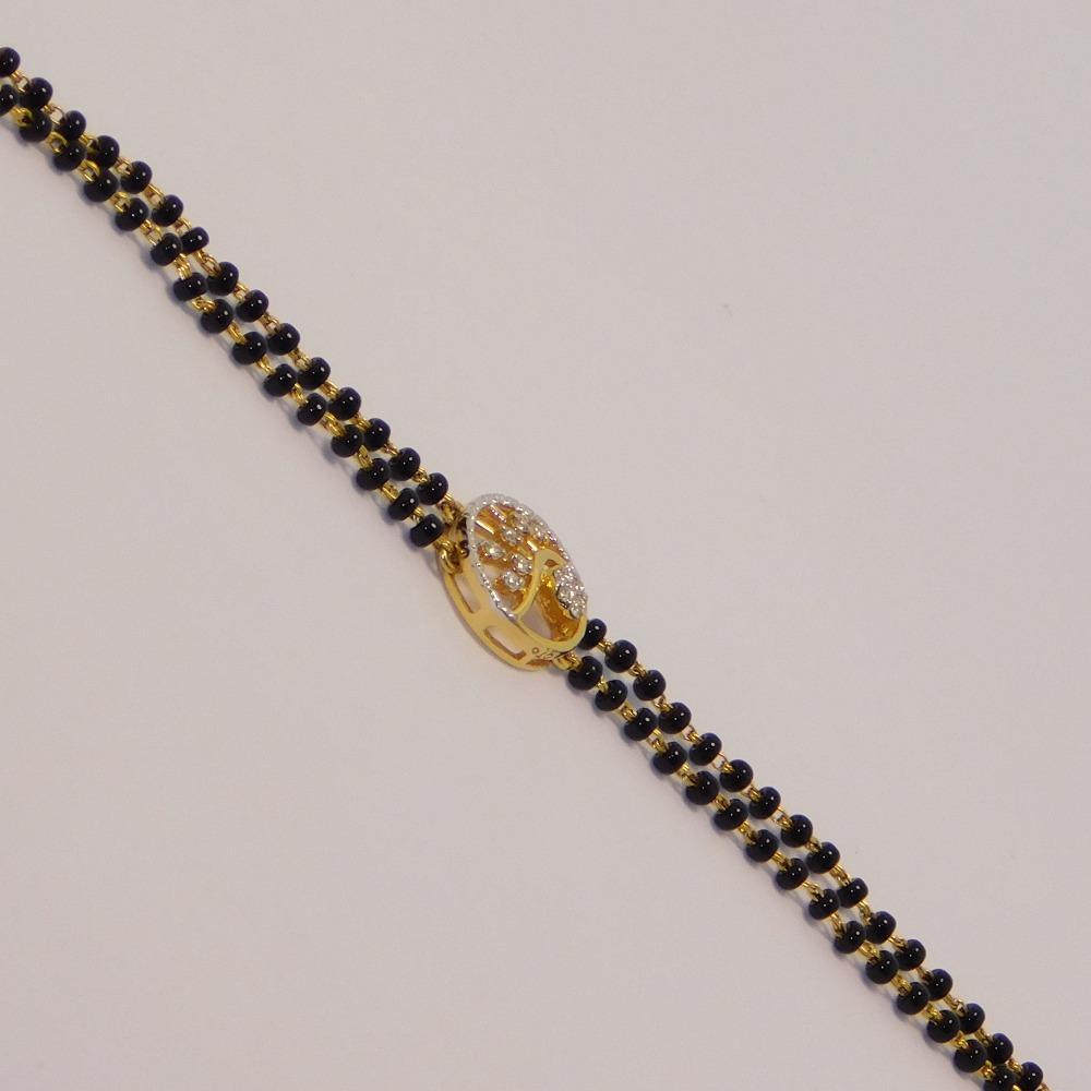 18K gold diamond mangalsutra agj-tm-28