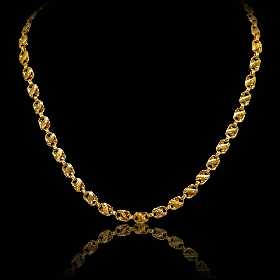 22Kt Gold Hallmark Chain For Men