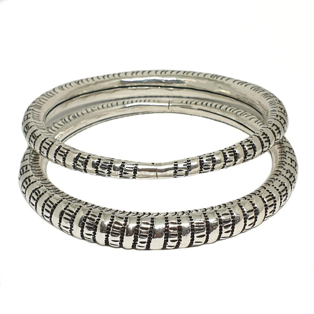 Designer Oxidised Silver Anklet Kada Payal MGA - P...