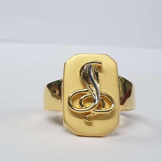 22kt Gold plain Goga maharaj Ring for Men