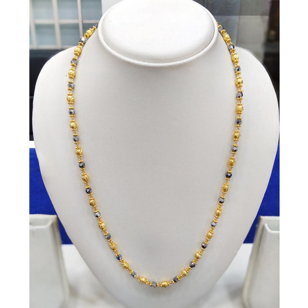 916 Gold Fancy Bead Mala