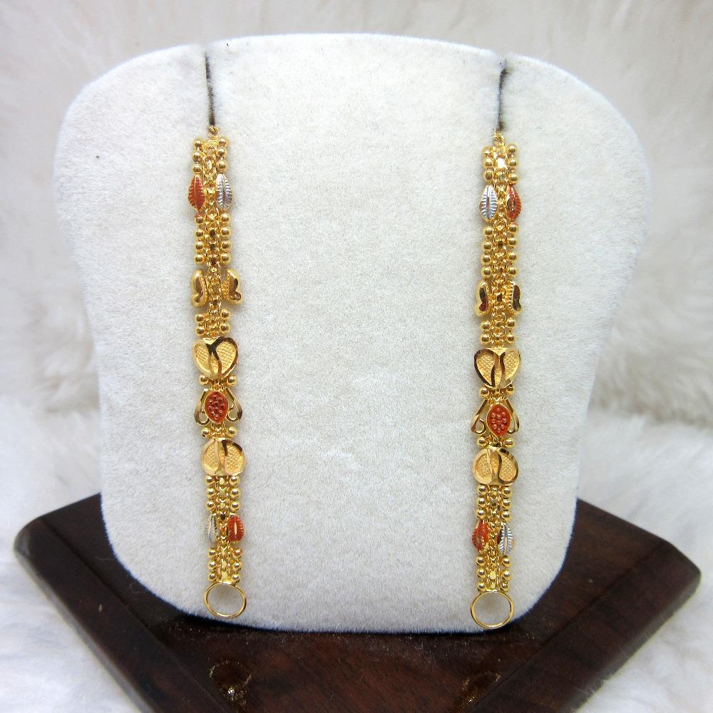 Gold 22k Hm916 Antique Designer Broad Rajwadi Kanser