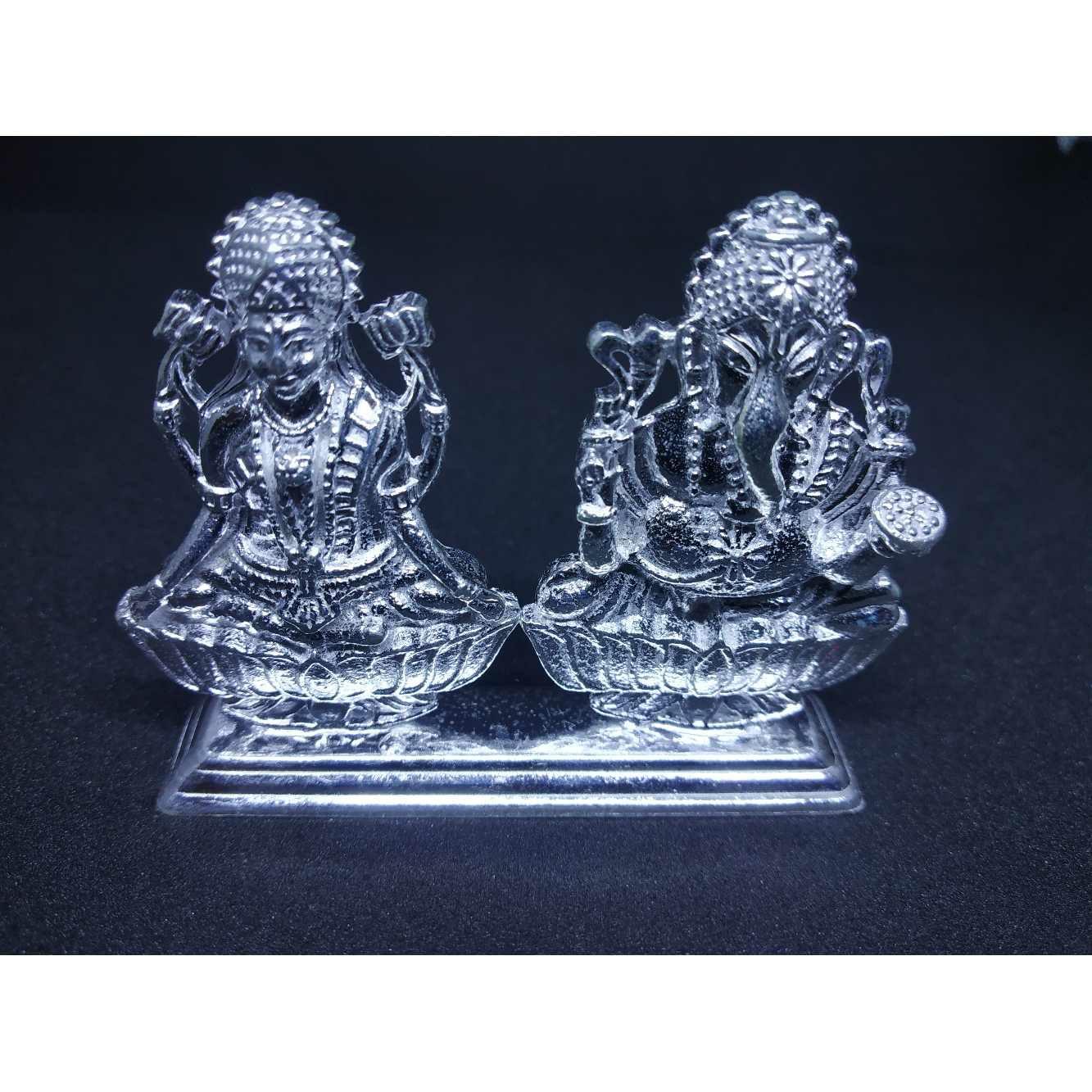Laxmi-ganesh joint antique waks casting murti(bhagvan,god)