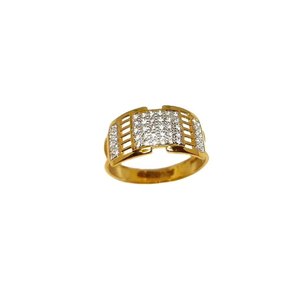 22K Gold Designer Gents Ring MGA - GRG0232