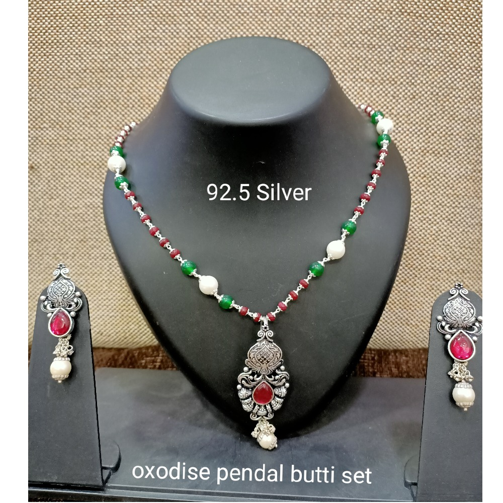925 Silver Oxidised Pendant Set SL-PS001