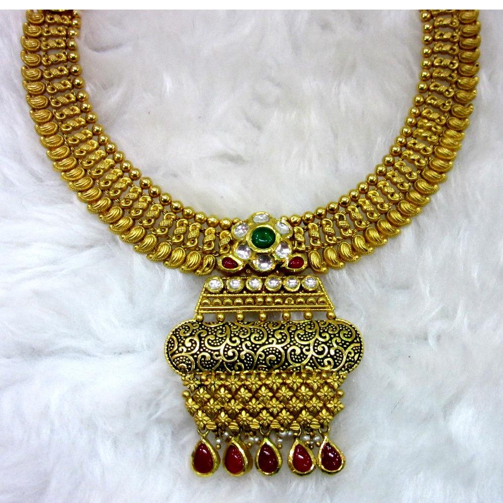 gold 22k hm916 ethical jadtar necklace