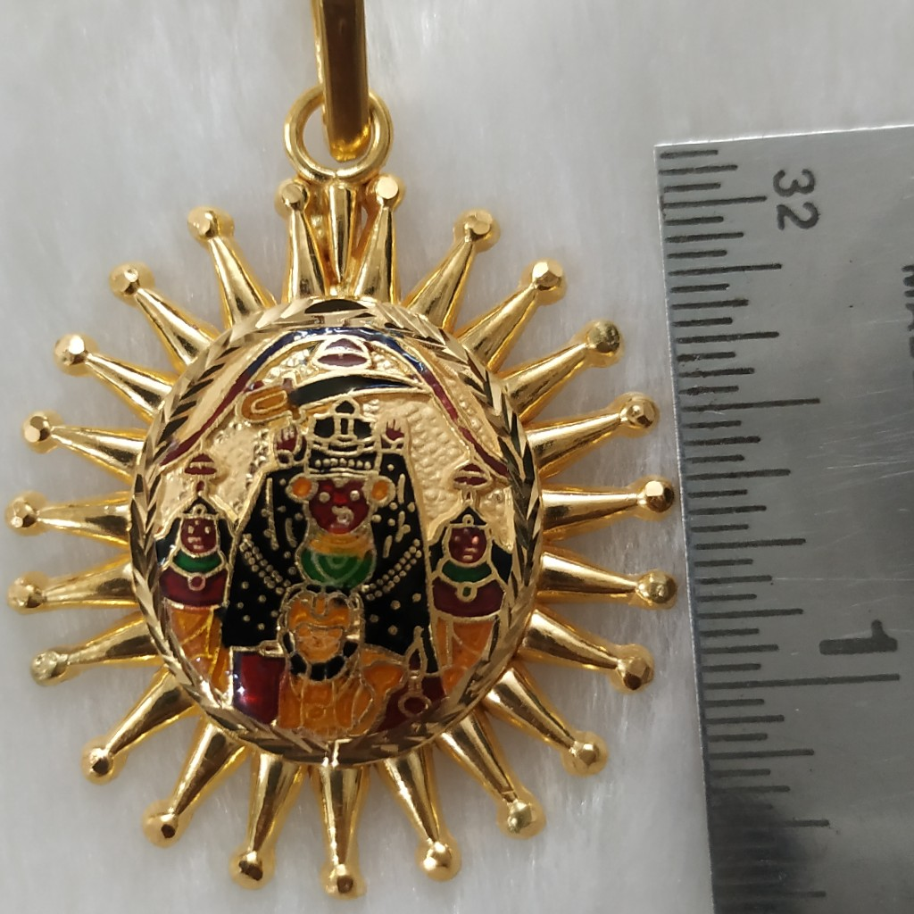 916 Gold Fancy Harsidhdhi Maa Pendant