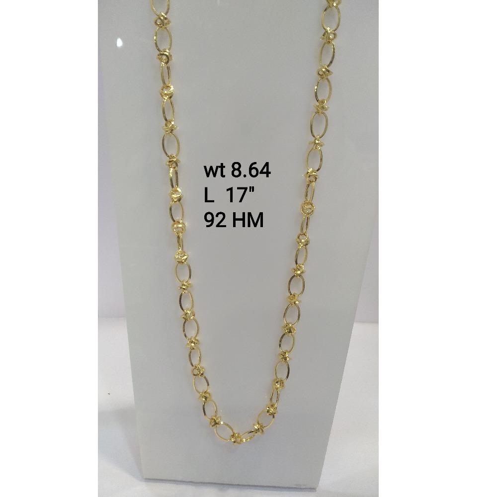 916 Gold Designer Chain For Men