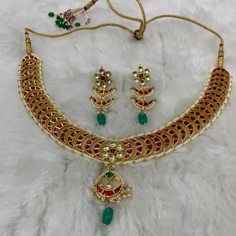 Designer kundan jadau necklace Set
