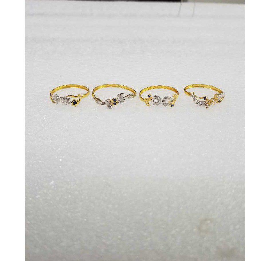 916 Gold Antique CZ Ladies Ring