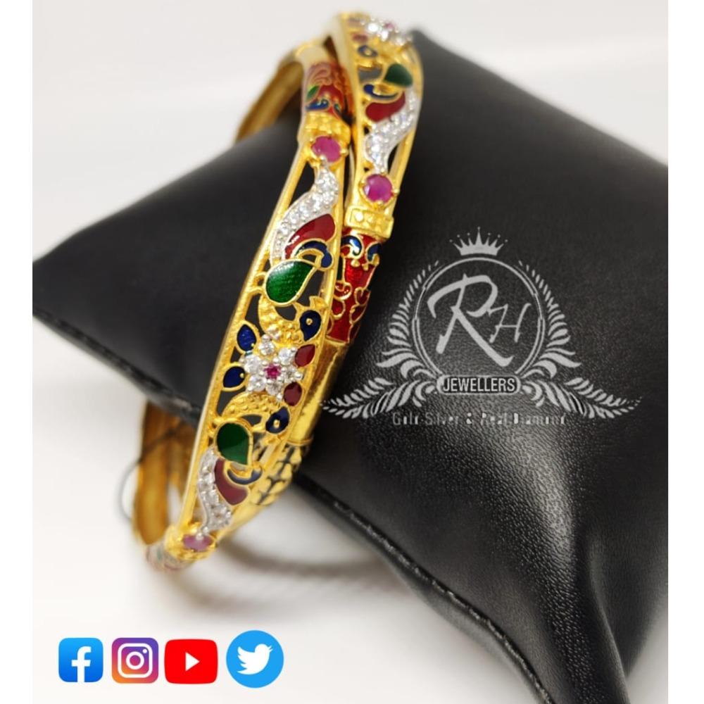 22 carat gold classical ladies bangles Rh-lb073