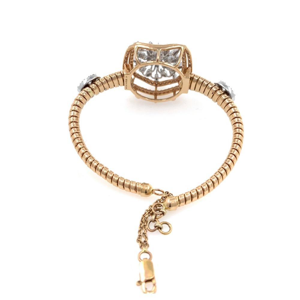 18kt / 750 rose gold occasional wear tennis bracelet 8brc44